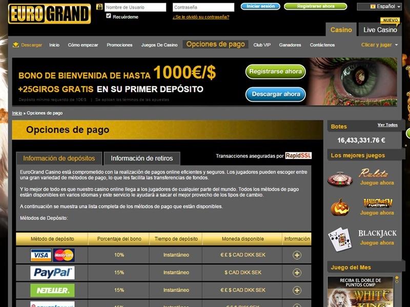 Online Casino Eurogrand Betrug